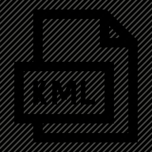 file, format, gis, kml icon