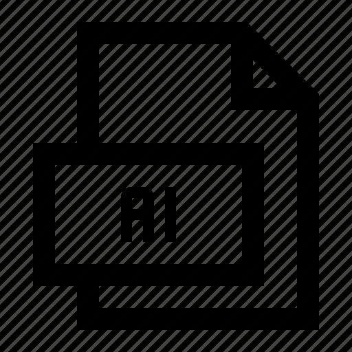 adobe, ai, file, format, illustrator, image, vector icon