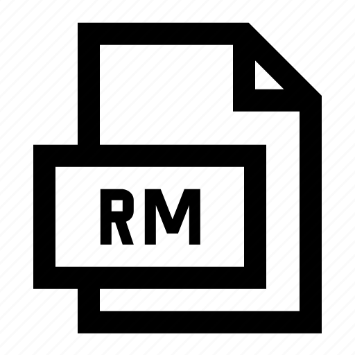 file, format, rm, video icon