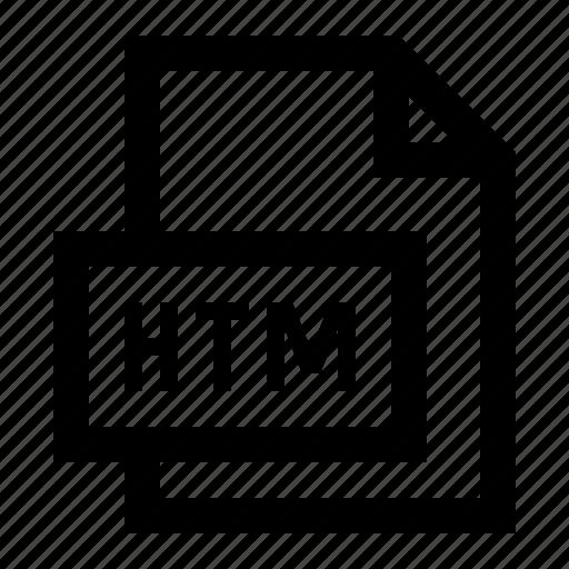 file, format, htm, web icon
