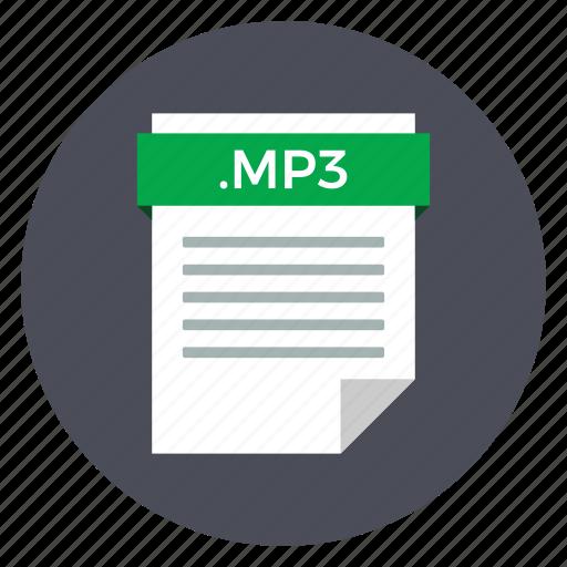 audio, file, format, mp3 icon