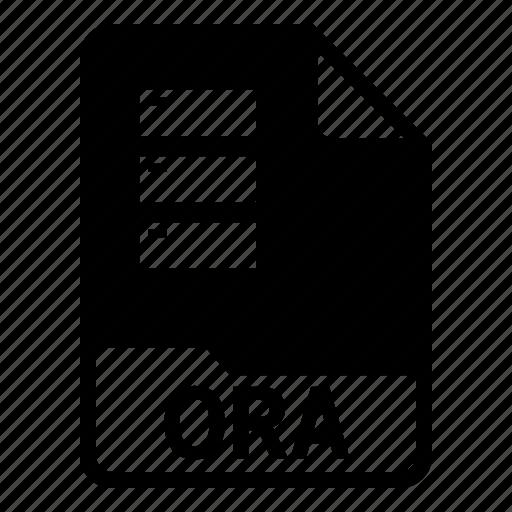 Database, document, file, ora icon - Download on Iconfinder