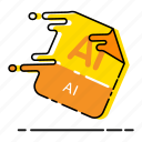 adobe illustrator, ai file, design, extension, file, format, illustrator icon