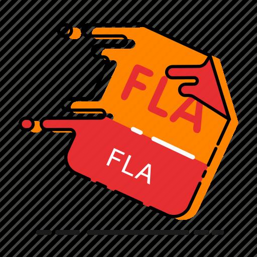 adobe flash, design, element, extension, file, fla, fla file, flash, format icon