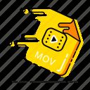 extension, format, media, mov, file, movie