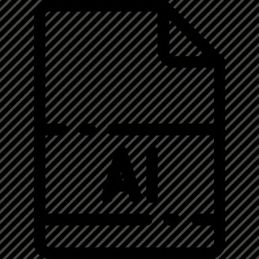 .ai, extension, file, format, illustrator, type icon
