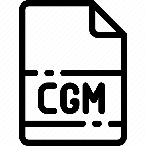 cgm, extension, file, format, type icon
