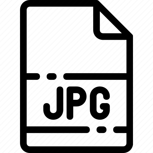 extension, file, format, jpg, type icon