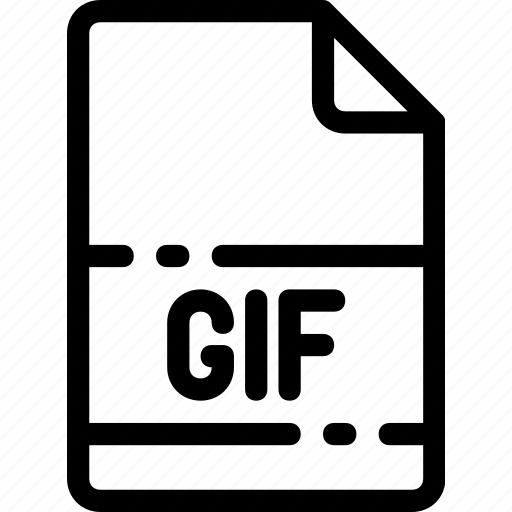 extension, file, format, gif, type icon