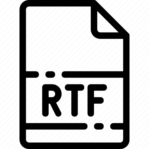 Rtf, type, extension, file, format icon