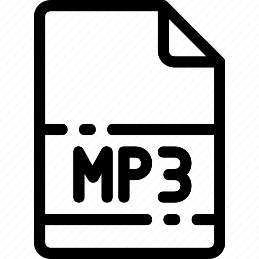 Extension, type, mp3, file, format icon