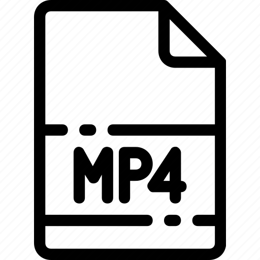 extension, file, format, mp4, type icon