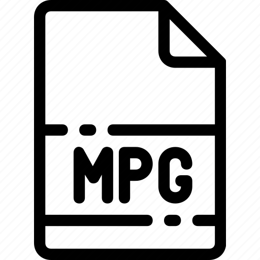 extension, file, format, mpg, type icon