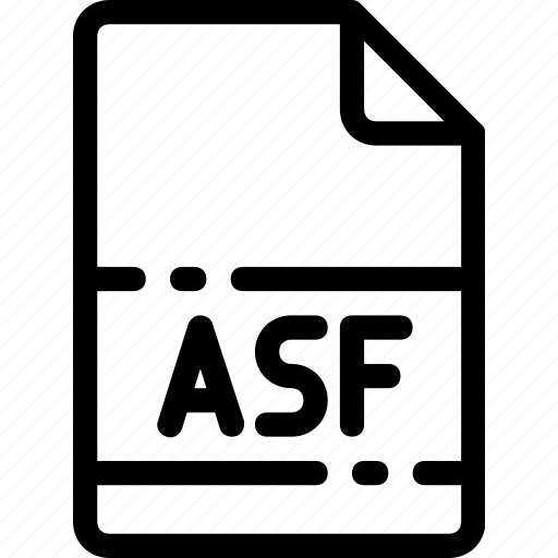asf, extension, file, format, type icon