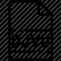 djvu, extension, file, format, type icon