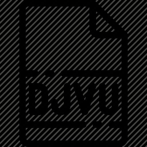 Djvu, extension, file, format, type icon - Download on Iconfinder