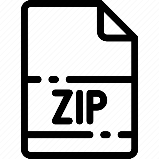 Extension, type, file, zip, format icon