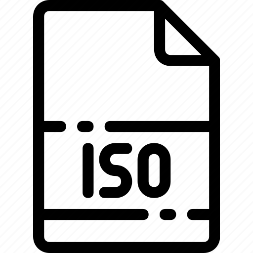 Iso, type, extension, file, format icon