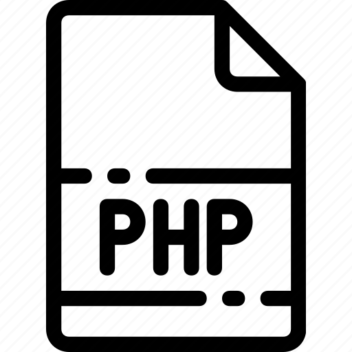 extension, file, format, php, type icon