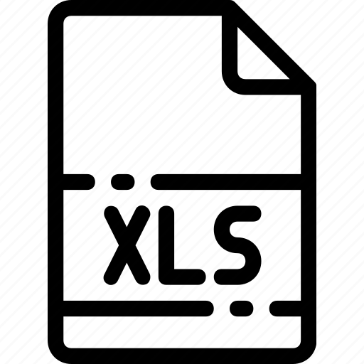 extension, file, format, type, xls icon