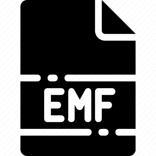 emf, extension, file, format, name, type icon