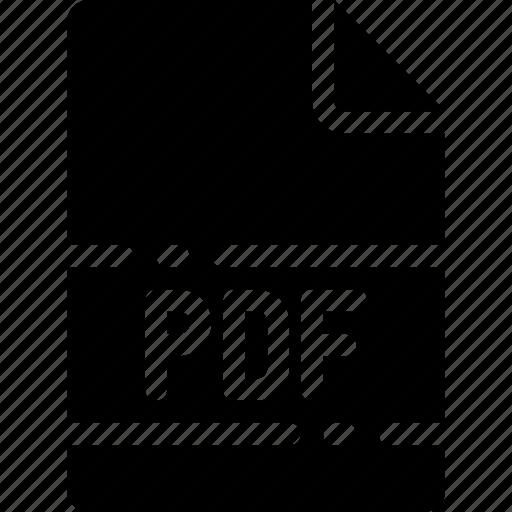 extension, file, format, name, pdf, type icon