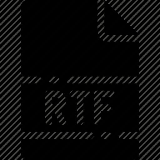 extension, file, format, name, rtf, type icon