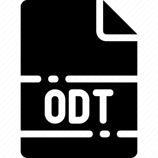 extension, file, format, name, odt, type icon