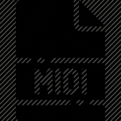 extension, file, format, midi, name, type icon