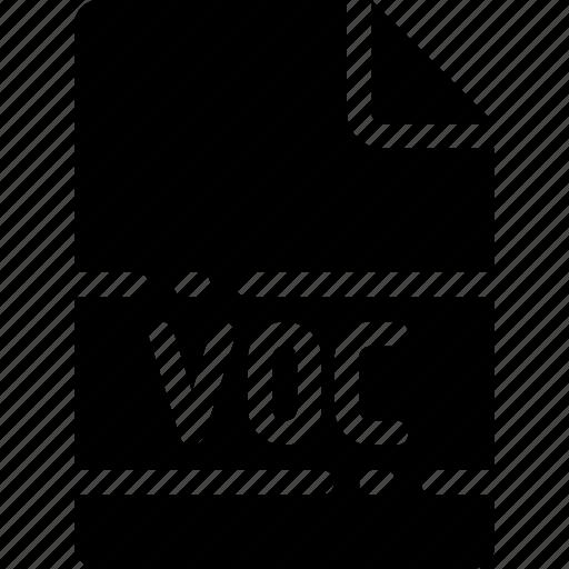 extension, file, format, name, type, voc icon