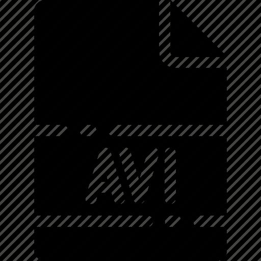avi, extension, file, format, name, type icon