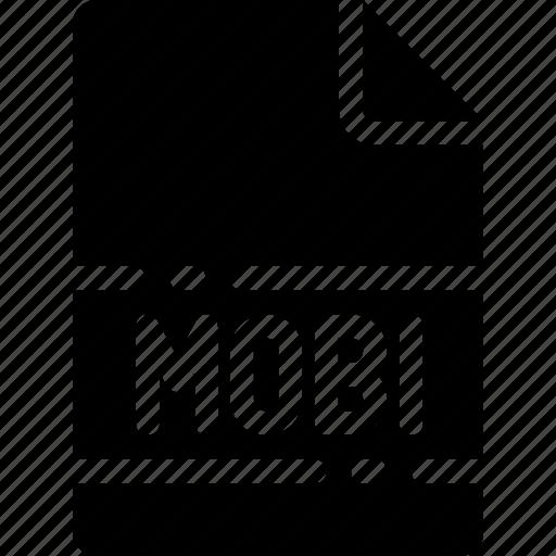 extension, file, format, mobi, name, type icon