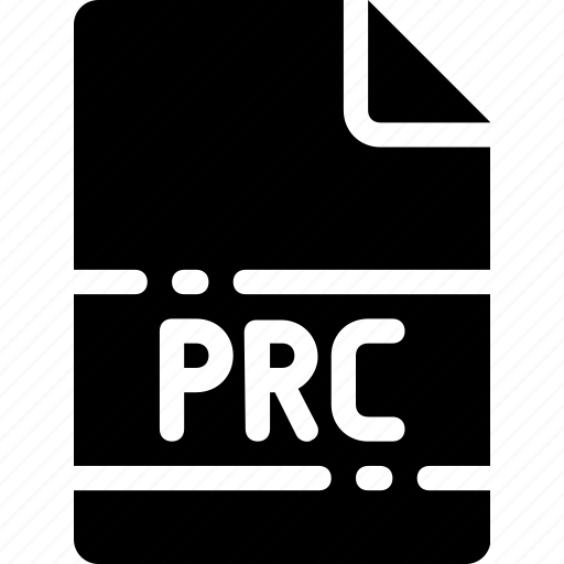 extension, file, format, name, prc, type icon