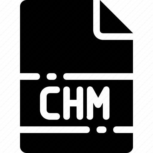 chm, extension, file, format, name, type icon