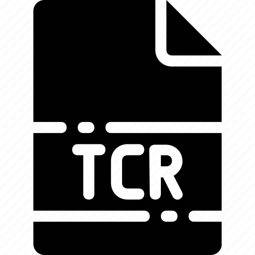 extension, file, format, name, tcr, type icon