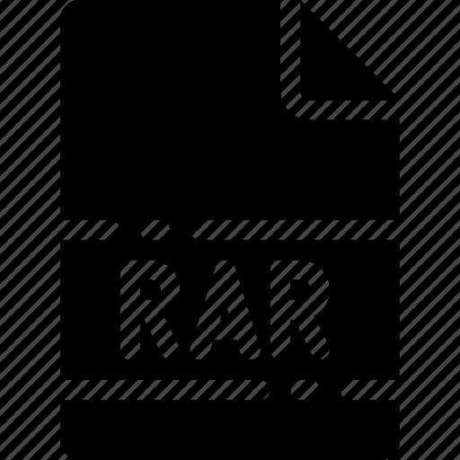 extension, file, format, name, rar, type icon