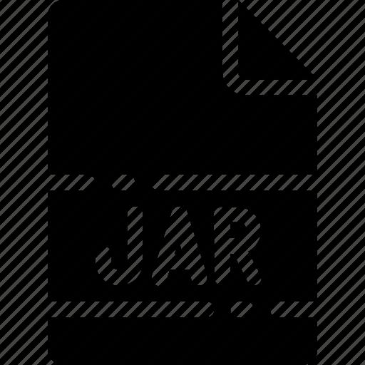 extension, file, format, jar, name, type icon