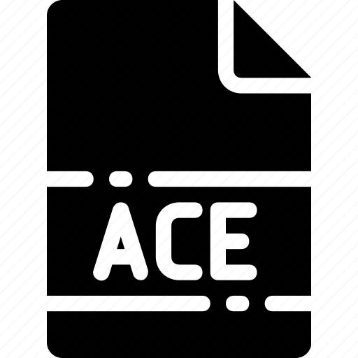 ace, extension, file, format, name, type icon