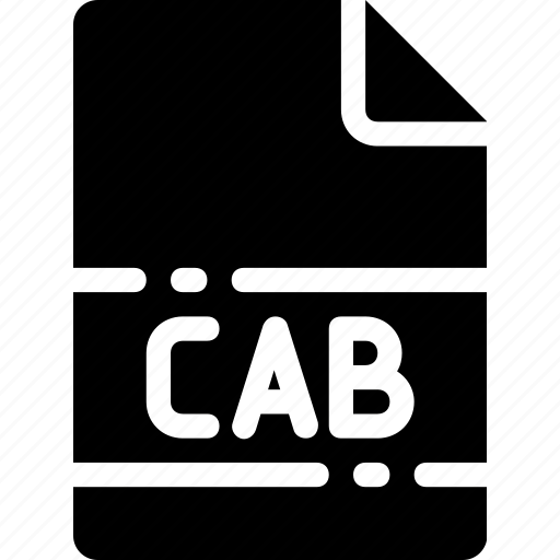 cab, extension, file, format, name, type icon