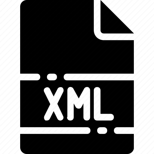 extension, file, format, name, type, xml icon
