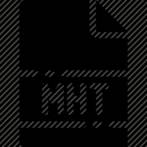 extension, file, format, mht, name, type icon
