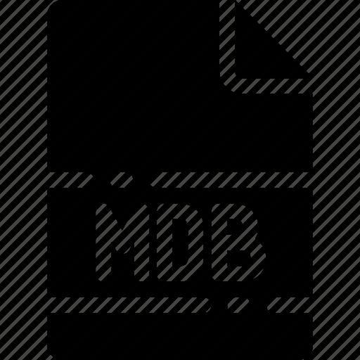 extension, file, format, mdb, name, type icon