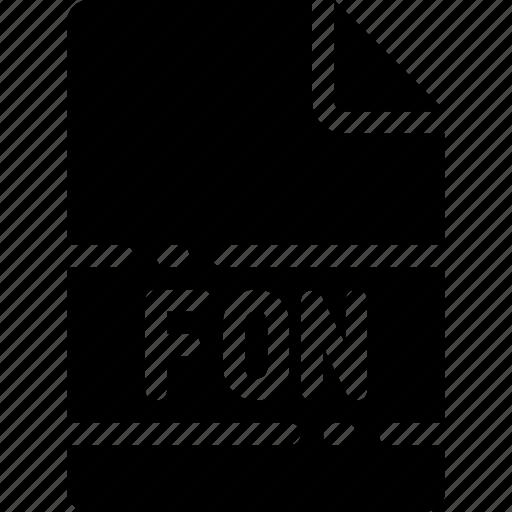 extension, file, fon, format, name, type icon