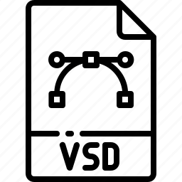 extension, file, format, name, type, vsd icon