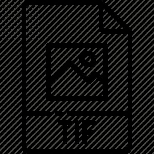 extension, file, format, name, tif, type icon
