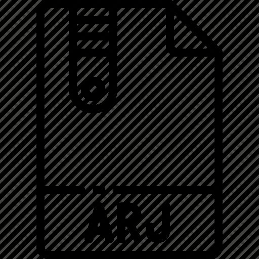 arj, extension, file, format, name, type icon