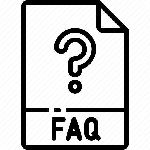 extension, faq, file, format, name, type icon