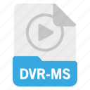 document, dvr-ms, file, format icon