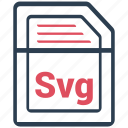 document, extension, file, format, svg icon