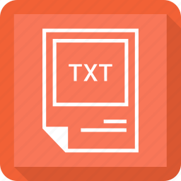 file format, txt icon